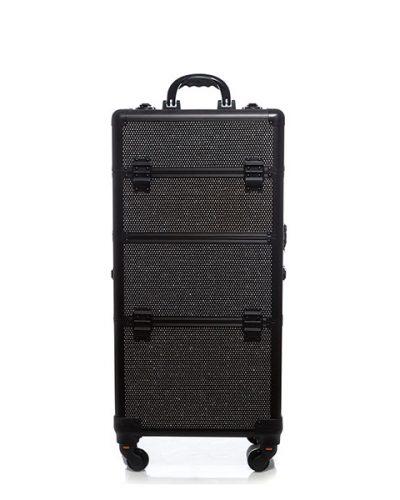 Βαλίτσα με 4 ρόδες TC-3360R Black Glitter