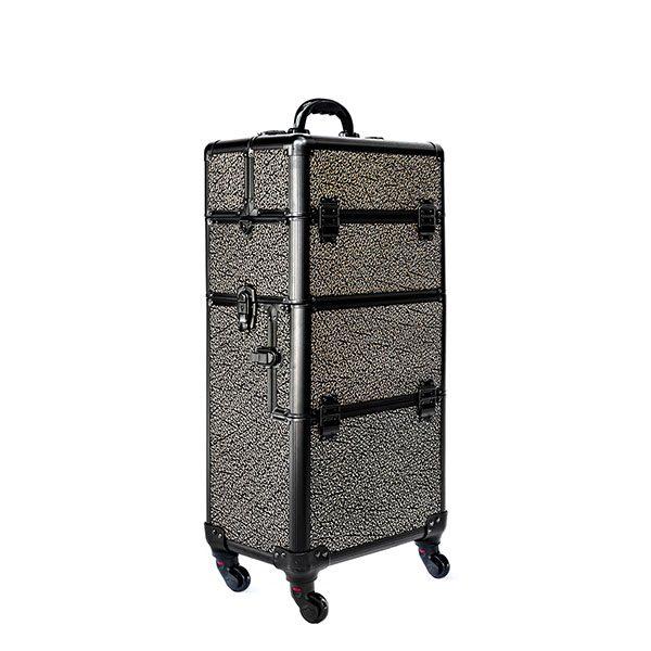 Βαλίτσα με 4 ρόδες TC-3360R Gold on Black