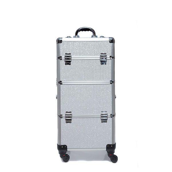 Βαλίτσα με 4 ρόδες TC-3360R White Glitter