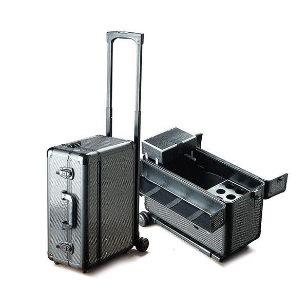 Βαλίτσα με 2 ρόδες TC-3276R Black Glitter