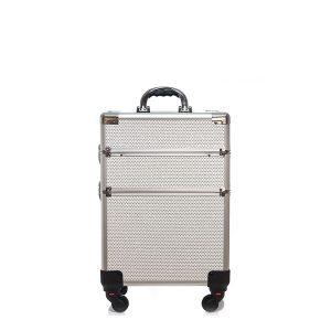Βαλίτσα με 4 ρόδες TC-3362R White Glitter